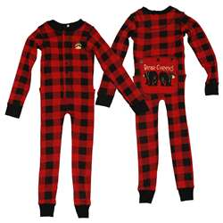 Lazy One Kid's Bear Cheeks Plaid Flapjacks