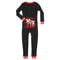 Lazy One Moose Caboose Kid's Flapjack Onesie