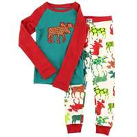 Lazy Ones Kids Patterned Moose Sleepwear Set