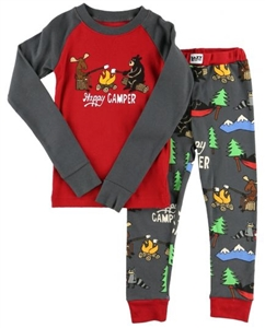Lazy One Kid's Happy Camper PJ Set