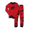 Lazy One Classic Moose Red Kids PJ Set