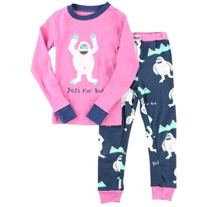 Lazy One girls Yeti For Bed PJ Set