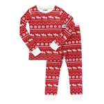Lazy One Nordic Moose Kids Long Sleeve PJ Set