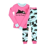 Lazy One Toddler Bearly Awake Pink PJ Set