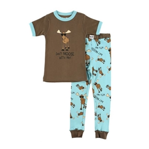 Lazy One Don't Moose With Me Boy's Kid's PJ Set