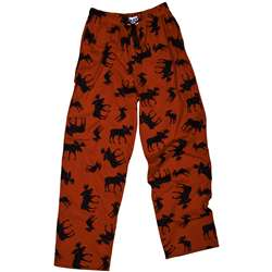 Lazy One Unisex Classic Moose Red Pant