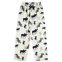 Lazy One Men's Blue Moose PJ Pants