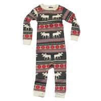 Lazy One Moose Fair Isle Unionsuit