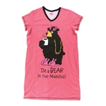 Lazy One Women's Bear in the Morning V-Neck Nightshirt