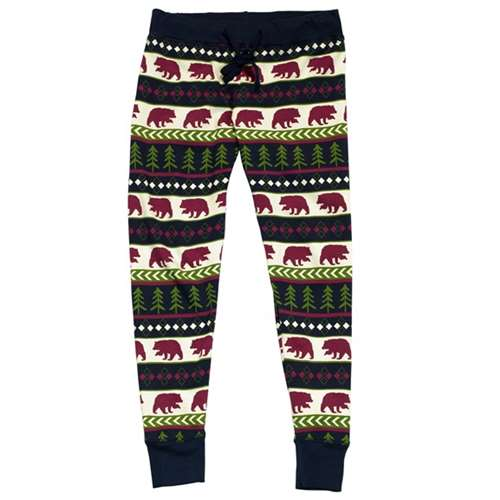 26d5b41ad Lazy One Bear Fair Isle Women s PJ Legging