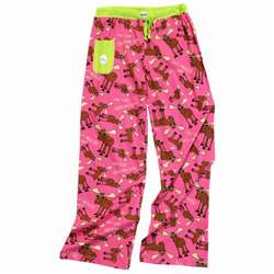 Lazy One Women's Don't Moose With Me Fitted PJ Pants