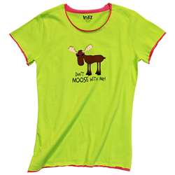 Lazy One Girl's Don't Moose With Me PJ Fitted Tee