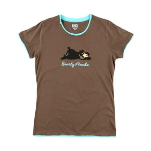 Lazy One Junior's Bearly Awake Fitted Tee
