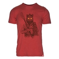Meridian Line Men's Hip Bear Organic 50/50 Tee Shirt