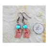 Down To Earth I Heart Idaho Dangle Copper & Turquoise Earrings