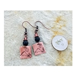 Down To Earth Idaho Mountains Copper Dangle Earrings