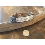 Down 2 Earth Idaho Mountains in the Pines Braided Leather Bracelet