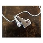 "Down To Earth Idaho with Heart 16"" Sterling Silver Idaho Necklace"