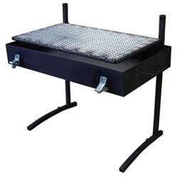 Partner Steel Large Fire Pan with Grill and Lid