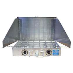 "Partner Steel 18"" 2 Burner Propane Stove with Wind Screen"