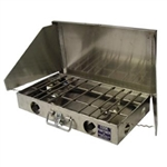 "Partner Steel 22"" 2 Burner Propane Stove with Wind Screen"