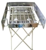 "Partner Steel 18"" Stove Stand & Windscreen"