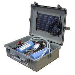 Partner Steel Motorized Water Purifier in Pelican Case w/ Solar Panel