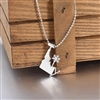 Down To Earth Idaho Skier Chairlift Necklace
