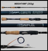 "Gen 2 XAS 7'4"" Medium Fast Walleye Spinning Rod"