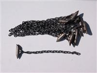 "Cast Stake Head w/ 12"" USA chain (welded)-dozen"