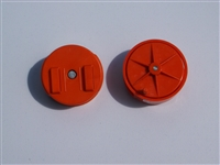 E-Z Orange plastic wire reel