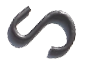 Stake head S hook-100count