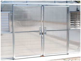 Double Hung Doors with Polycarbonate Panels
