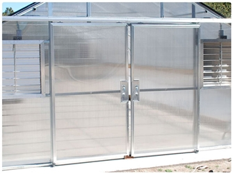Double Sliding Doors with Polycarbonate Panels