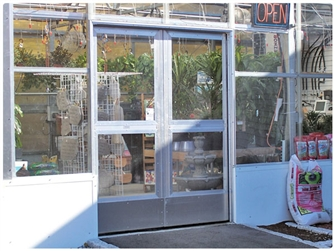 Double Sliding Doors with Glass Panels