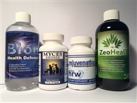 H2 Rejuvenation, BionPlus, ZeoHeal, Myces/LYA = Health Bundle! Restore your biome for better health and greater performance. Superior to any Lyme Support package on the market!