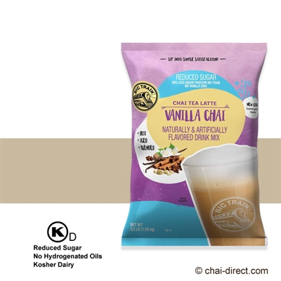 Photo of Reduced Sugar Vanilla Chai Flavored Latte Mix by Big Train