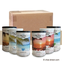 Photo of Variety Case of Six 10 Ounce Canisters Chai Latte Mix by Pacific Chai