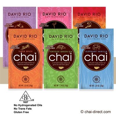 Photo of Variety Selection of 6 Single Packets Chai Latte Mix by David Rio