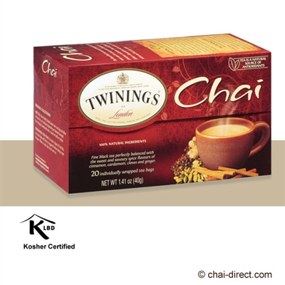 Photo of Traditional Chai Loose Leaf Tea Bags by Twinings of London