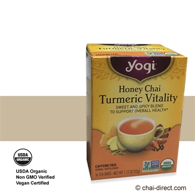 Photo of Honey Chai Turmeric Vitality Loose Leaf Tea Bags by Yogi