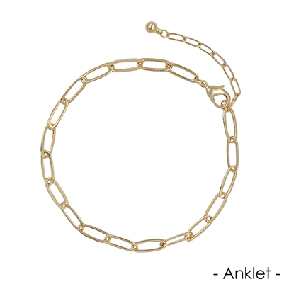 Gold Link Chain Anklet