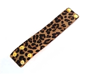 "Cheetah Print 2"" Wide Genuine Leather Bracelet, Very Popular!"