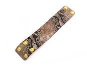 "Snake Print 2"" Wide Genuine Leather Bracelet, Very Popular!"