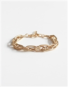 Layered Gold Chain Clasp Bracelet