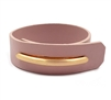 Pink Leather Wrap Bracelet with Gold Bar