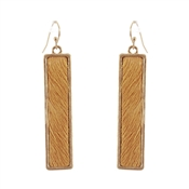 "Mustard Leather and Gold 1.5"" Earring"