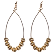 "Gold Beaded 1.5"" Drop Earrings"