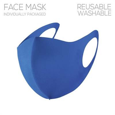 Blue Polyester Face Mask, Gameday!