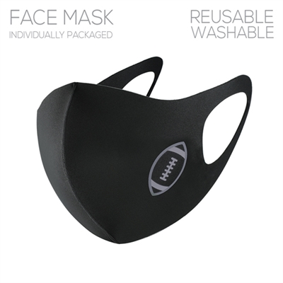 Black Face Mask with Football